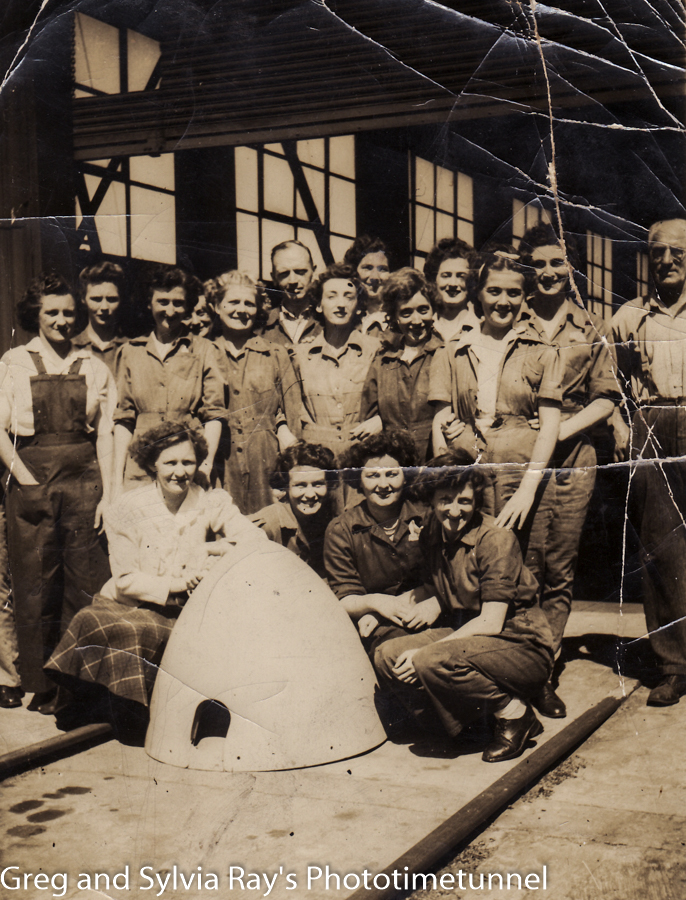 Newcastle girls helped build bombers