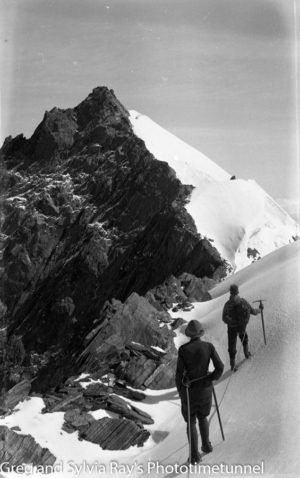 Summit of Mt Strachan. Australian lawyer Marie Byles' expedition to the New Zealand alpine country in 1935.