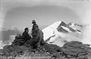 Australian lawyer Marie Byles' expedition to the New Zealand alpine country in 1935. Mt Dechan from Mt Strachan.
