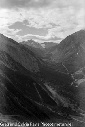 Australian lawyer Marie Byles' expedition to the New Zealand alpine country in 1935. Head of Mahitahi Valley.