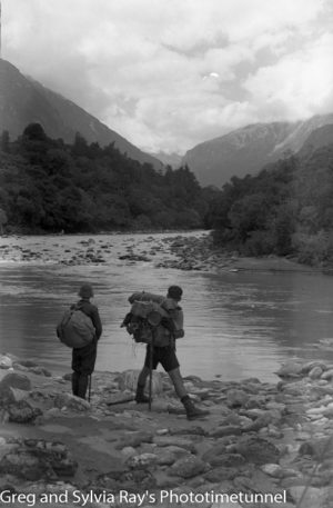 Australian lawyer Marie Byles' expedition to the New Zealand alpine country in 1935. Mahitahi Valley.