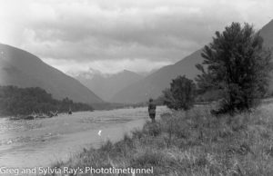 View of the Mahitahi Valley. Australian lawyer Marie Byles' expedition to the New Zealand alpine country in 1935.