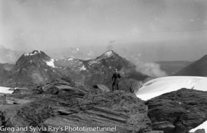 Australian lawyer Marie Byles' expedition to the New Zealand alpine country in 1935. View from Mt Butzbach over Mt Kinihi.