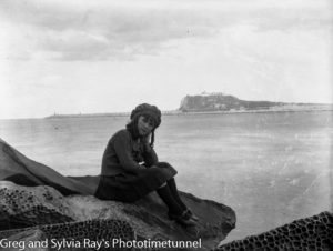 Young girl on the Stockton shore of Newcastle Harbour, circa 1920. (1)