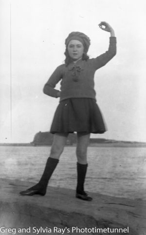 Young girl on the Stockton shore of Newcastle Harbour, circa 1920. (2)