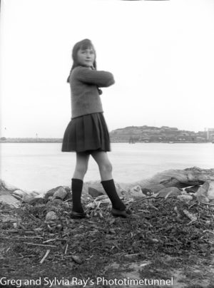 Young girl on the Stockton shore of Newcastle Harbour, circa 1920. (3)