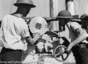 Royal Australian Navy gunners during World War 2.