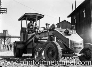 Grader operated by the City of Greater Newcastle, NSW. Circa 1940s.