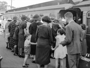 Easter crowd at Newcastle Railway Station, Newcastle, NSW, March 25, 1937. (11)