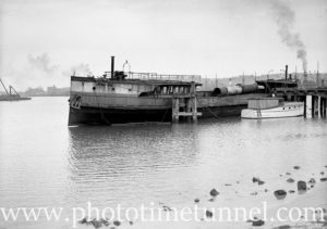 Derelict vessel Kuring-Gai in Newcastle Harbour December 22, 1936.