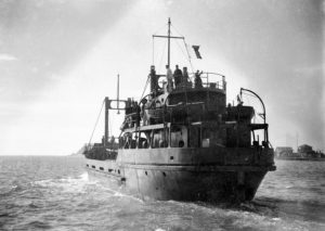 US Army boats, built by Newcastle State Dockyard, NSW, undergoing trials on June 23, 1944. (3)