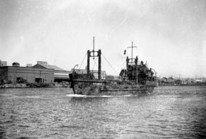 US Army boats, built by Newcastle State Dockyard, NSW, undergoing trials on June 23, 1944. (5)
