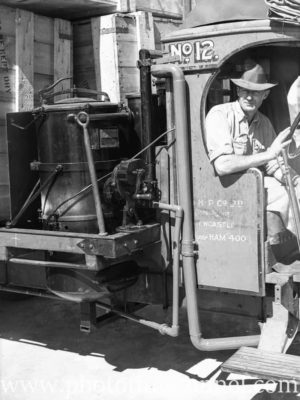 Gas-powered truck operated by BHP Ltd in Newcastle, NSW, as a wartime petrol-saving measure. Circa 1941. (2)