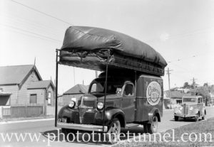 Charcoal gas-powered Dodge delivery truck in Newcastle, NSW. September 19, 1941. (2)