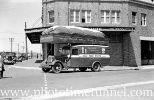 Delivery van powered by charcoal gas as a wartime fuel-saving measure. Newcastle, NSW, November 13, 1941. (2)