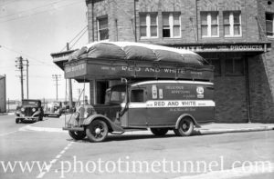 Delivery van powered by charcoal gas as a wartime fuel-saving measure. Newcastle, NSW, November 13, 1941. (3)