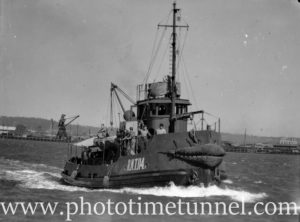 Naval lighter undergoing trials in Newcastle Harbour, NSW, September 5, 1945. (2)