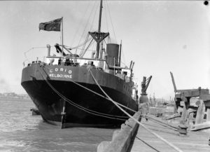 Ship Corio in Newcastle Harbour, August 16, 1935.