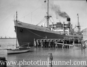 Ship City of Dieppe in Newcastle Harbour, NSW,  September 24, 1935.