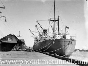 Ship Port Wyndham in Newcastle Harbour, September 1935.