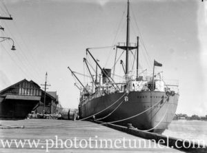 Ship Port Townsville at Lee Wharf, Newcastle, NSW, November 14, 1935. (4)
