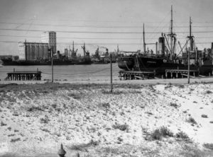 Ship Arkaba in Newcastle Harbour, NSW, December 13, 1935.