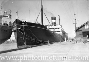 Ship Chyebassa at Lee Wharf, Newcastle Harbour, December 13, 1935.