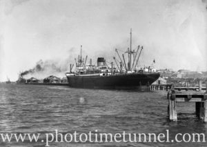 Ship Zealandic in Newcastle Harbour, NSW, November 5, 1935.