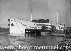 Ship Svolder in Newcastle Harbour, NSW, November 5, 1935.