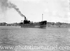 Ship Hetton Bank on Newcastle Harbour, NSW, March 25, 1936.