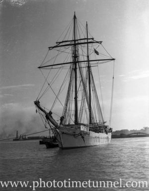 New Zealand Schooner Huia in Newcastle Harbour, NSW, August 1935. (2)