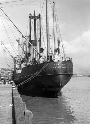 Ship Komata in Newcastle Harbour, March 29, 1939.