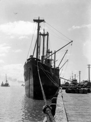 Ship Komata in Newcastle Harbour, March 29, 1939. (2)