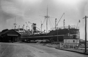 Ship Talabot in Newcastle Harbour, NSW, June 2, 1936.