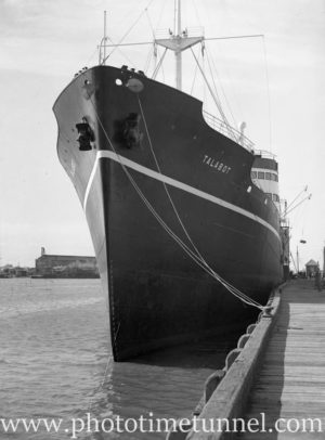 Ship Talabot in Newcastle Harbour, NSW, June 2, 1936. (2)