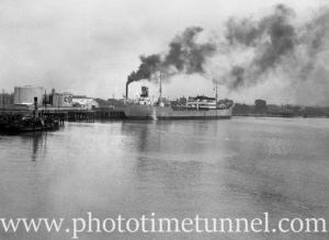 Tanker Balaklava at the oil berths, Newcastle, NSW, July 15, 1936. (1)
