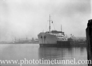 Tanker Balaklava at the oil berths, Newcastle, NSW, July 15, 1936. (2)