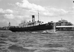 Tug Hinton in Newcastle Harbour, September 8, 1936.