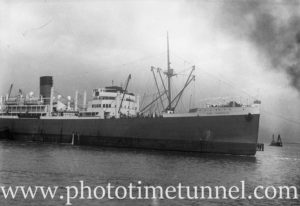 Ship Port Townsville in Newcastle Harbour, August 3, 1936.