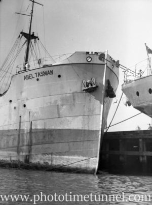 Ship Abel Tasman in Newcastle Harbour, NSW, 1936.