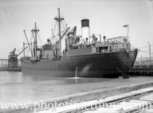 Coal ship Age in Newcastle Harbour, October 28, 1936. (1)