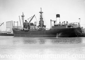 Coal ship Age in Newcastle Harbour, October 28, 1936. (3)
