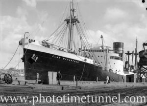Ship Clan MacArthur in Newcastle Harbour, NSW, November 2, 1936.