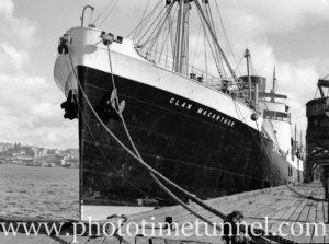 Ship Clan MacArthur in Newcastle Harbour, NSW, November 2, 1936. (2)