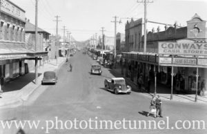 View along Vincent Street, Cessnock, circa 1940s.