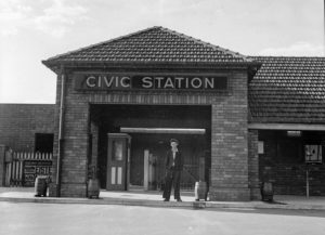 New Civic Railway Station, Newcastle, NSW, October 10, 1936.