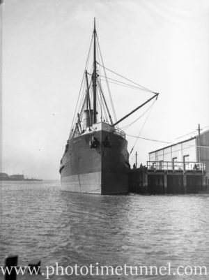 Ship Ngakuta in Newcastle Harbour, NSW, May 19, 1936.