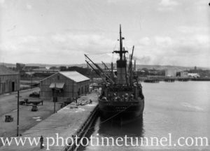 Ship Talune in Newcastle Harbour, NSW, May 19, 1936.