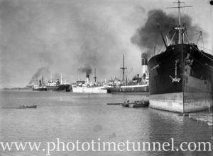 Ship City of Vancouver in Newcastle Harbour, NSW, April 29, 1936. (2)