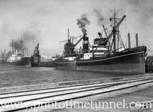 Ship Mareeba in Newcastle Harbour, NSW, April 2, 1936.
